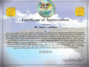 certificate of appreciation ving