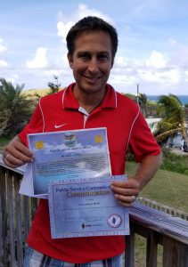 sean with certificates